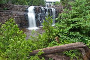 Play in the Northshore waterfall, goose berry falls, two harbors minnesota lake superior attractions