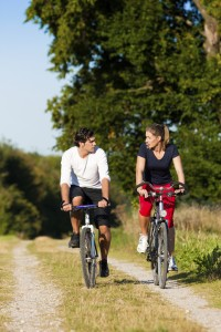 Couples activities and recreational mountain biking County Inn Two Harbors
