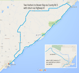 North Shore of Minnesota Road Trip Map for Fall Colors