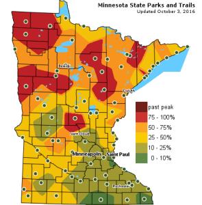 Fall Colors Minnesota Map